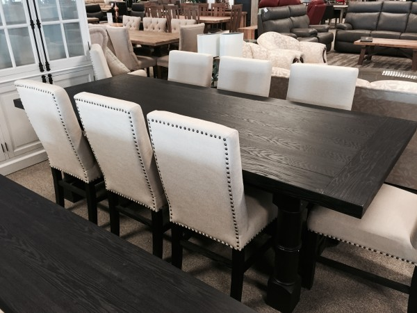 French Bordeaux Black Dining Table 2400 Australian Lifestyle Furniture